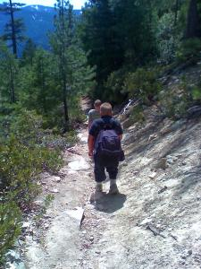 the-boys-heading-down-castle-crags