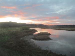 Humboldt Bay Wildlife Refuge.  Dawn breaking.