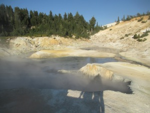 Lassen Volcanic National Park the geysers